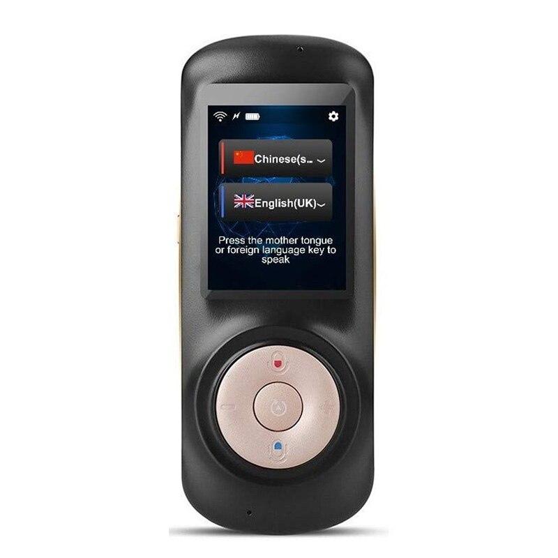 Dispositif instantané de traducteur de langue de voix, WiFi bidirectionnel intelligent 2.4 traduction portative d'écran tactile de pouce pour apprendre le Busi de voyage