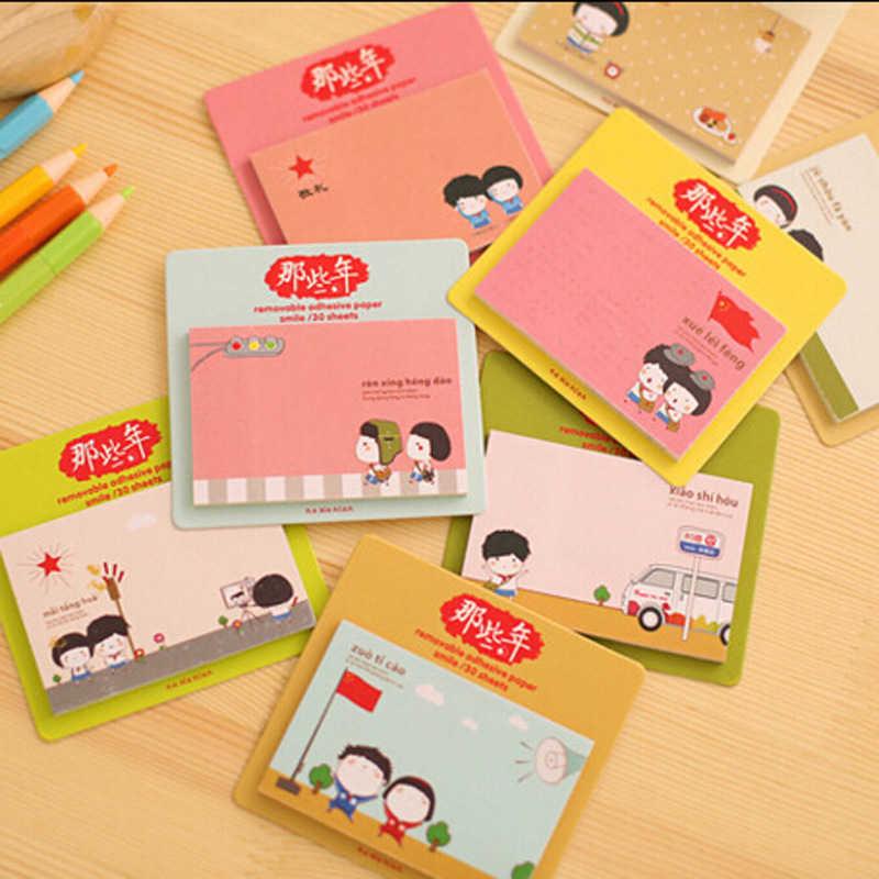 Usine vente directe mignon commodité autocollant carte notes de l'étudiant coréen papeterie portable N post autocollant petit cadeau