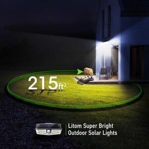 Image 3 - 4 قطعة/الوحدة LITOM الشمسية الجدار أضواء في الهواء الطلق 30 LED محس حركة IP67 مقاوم للماء زاوية واسعة السوبر مشرق الأمن امب Solaire
