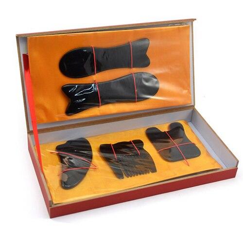 ZLROWR Acupuntura Tradicional Massagem Tool Set Gua Sha Guasha