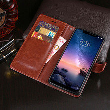Cute Case For Xiaomi Redmi Note 6 Pro Business PU Leather Flip Cover Note6 Waller