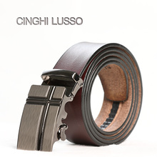 CINGHI LUSSO New Belts male High Quality PU Leather Waist Belt Luxury Designer Brand Men Cowskin Fashion Strap Jeans pants