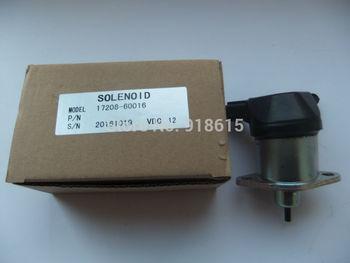 17208-60016 stop solenoid valve J112 J116 J315 J320 EDL16000E EDL20000TE EDL26000TE generator parts replacement