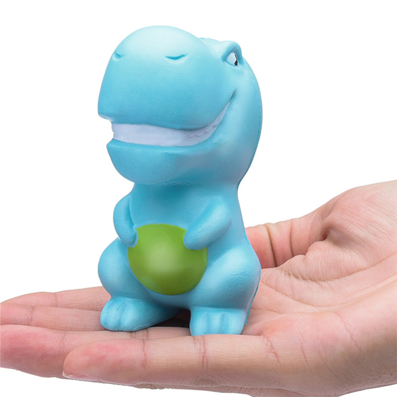 Squishies Sky Blue Dinosaur Scented Slow Rising Squeeze Stress Reliever Toys   Squirrel Swipes Anti-stress For Kid QA