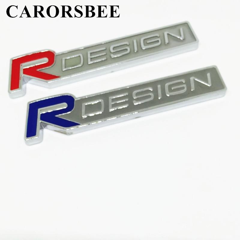 3D-металла сплава цинка Р RDESIGN дизайн письмо emblems значки стикера автомобиля стайлинг автомобиля наклейка для Volvo С30 в V60 и V40 S60 на S80 S90 для ХС60