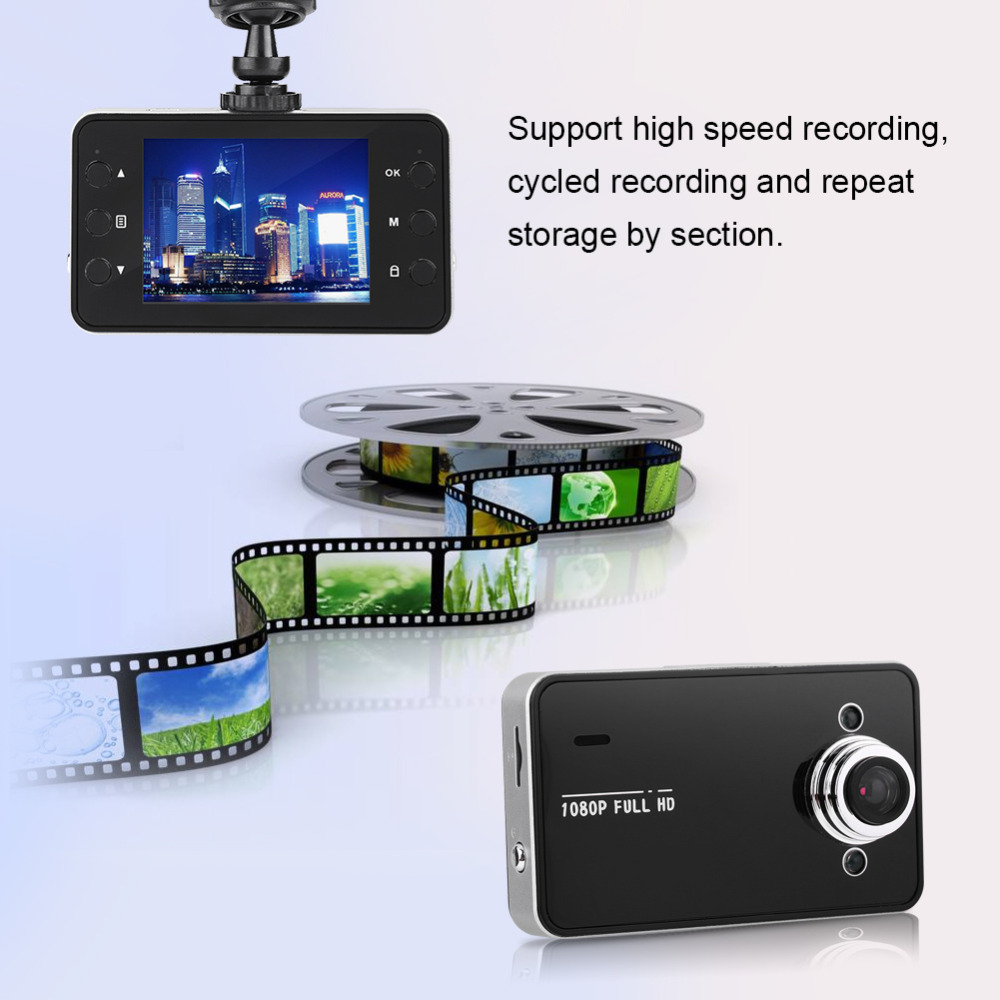 Dash Cam Car DVR Camera Full HD 1080P Front+Rear Night Vision Video Recorder Parking Monitor Supporting TF Card for 4G-32G