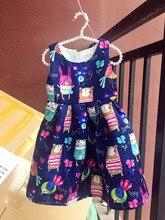 Girls Blue Pink Flower Dress