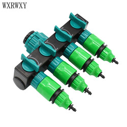 wxrwxy Garden hose splitter water pipe 4 way tap garden tap connector 4/7 mm cranes hose irrigation 8/11 mm 1pcs