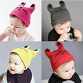 Versión coreana de otoño e invierno de los niños del bebé del bebé gorro de lana niños y niñas niño cuidado del oído cálido sombrero de la Navidad