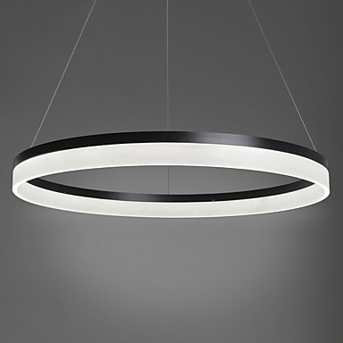 60CM Single Ring Acryl Modern LED Pendant Lights Fixtures Home Lighting Dinning Living Room Hanging Lamp Suspension Luminaire