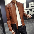 Leather Jacket Men 2017 Autumn Winter New Brand Clothing Faux Leather Tracksuit Casual Slim Fit Motorcycle Jackets Leather Coat
