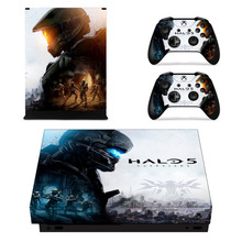Halo 5 Skin Sticker Decal For Microsoft Xbox One X Console and Controllers  Skins Stickers for Xbox