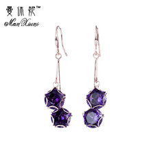 8 Color Fashion Korean Double Stars Tassel Long Drop Lady Earrings Jewelry For Women Weddings Gifts Pendientes Brincos EH1147