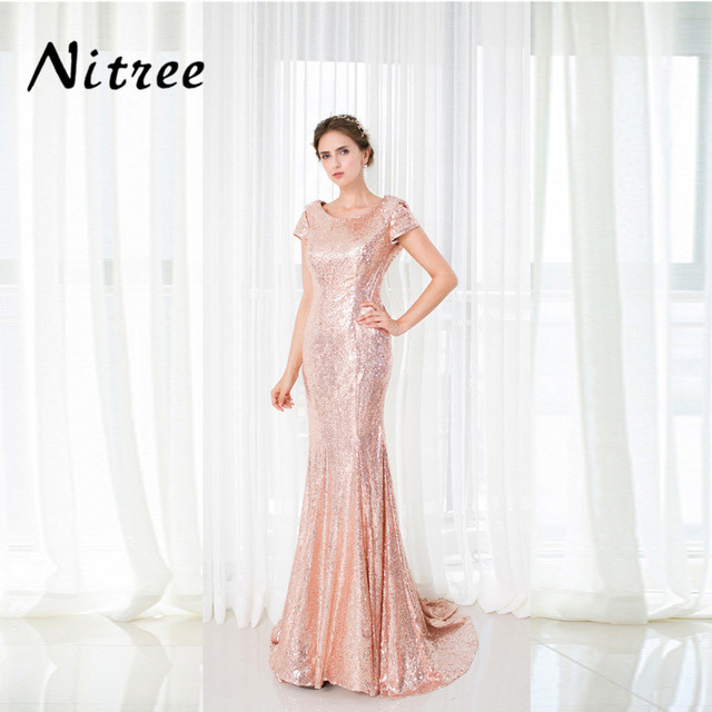 Robes Robe 2018 Rouge Rose De Fantaisie Paillettes Soirée Bal wztPqA4