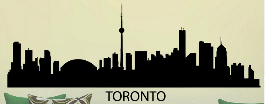 Toronto skyline wall sticker city skyline building wall decal bedroom city skyline wall art sticker home decorative decoration in wall stickers from home