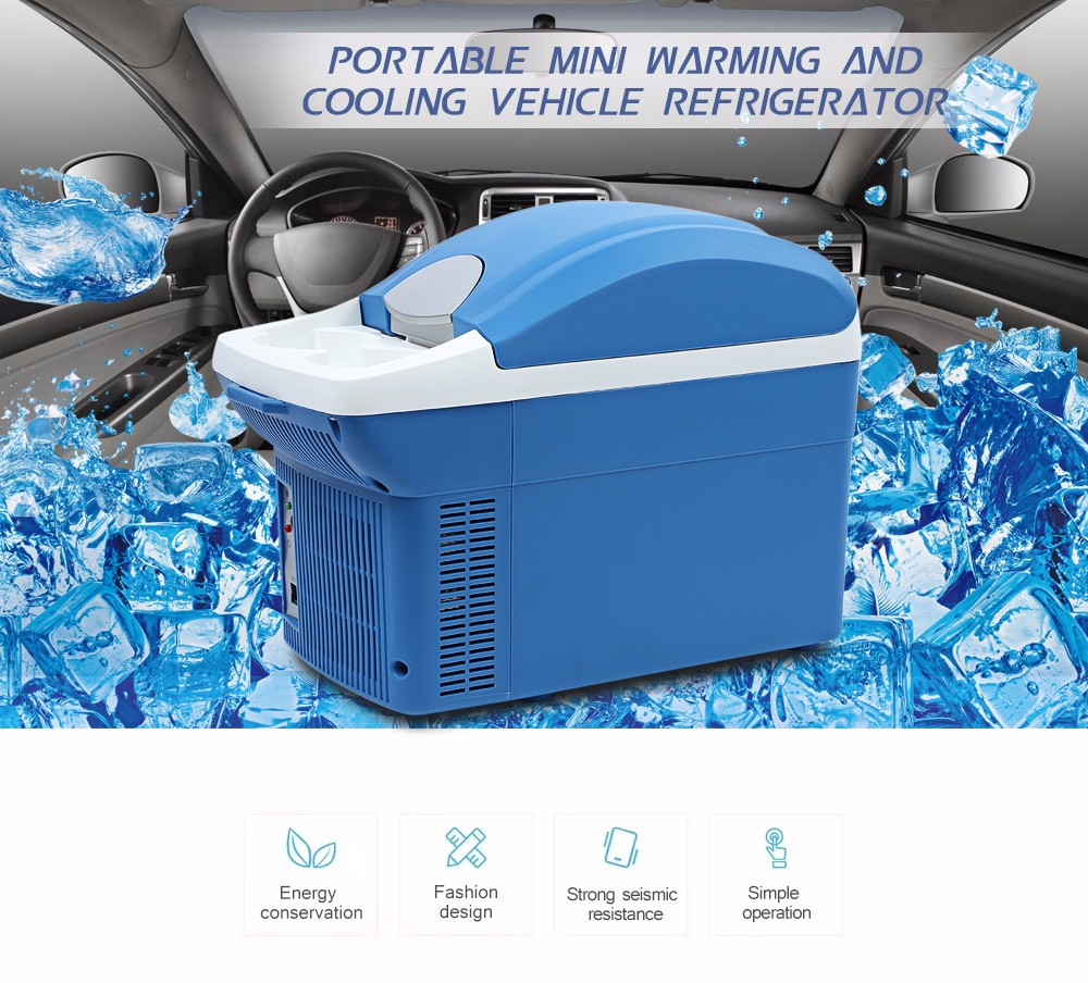 Car Refrigerator 8L Portable Freezer Dual Use Electrical Cooling Heating Box for Home Travel Hiking Camping Outdoor Auto Fidge