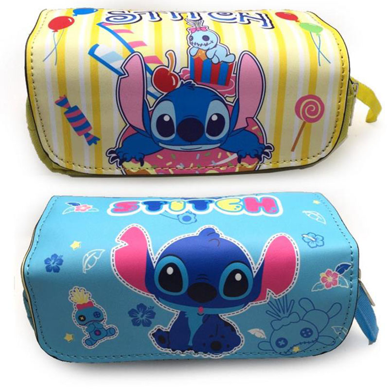 1 Pcs Kawaii Cartoon Lilo Stitch Pencil Bags Double Zipper Stationery Leather Big Capacity Girls Cosmetic Bag School Supplies1 Pcs Kawaii Cartoon Lilo Stitch Pencil Bags Double Zipper Stationery Leather Big Capacity Girls Cosmetic Bag School Supplies