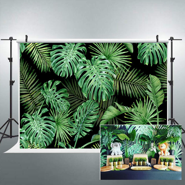Jungle Leaves Printed Background
