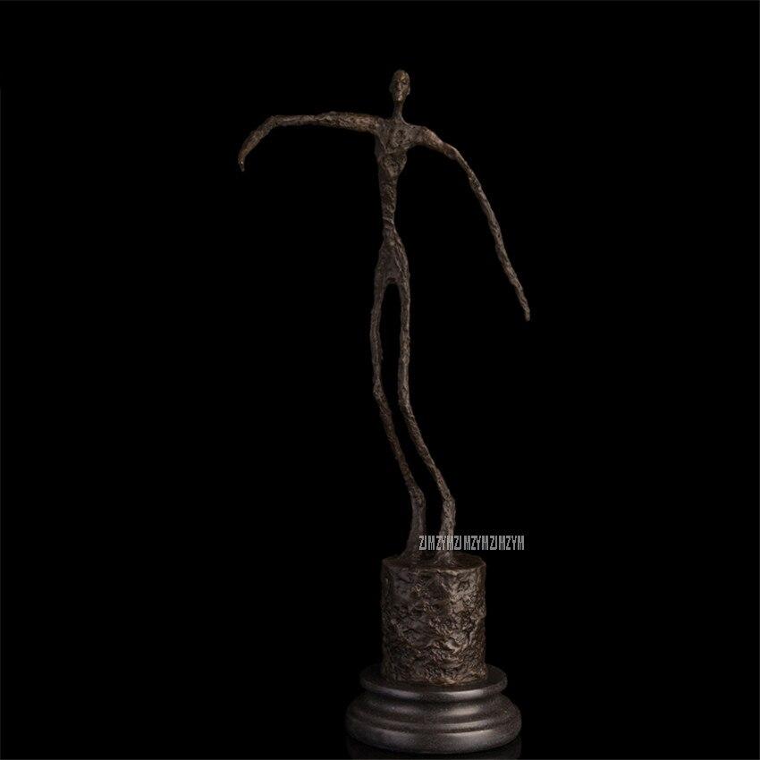 Nouveau Arts corps humain squelette abstraite Sculptures Statues moderne cuivre laiton artisanat Bronze ornement maison bureau DS-474
