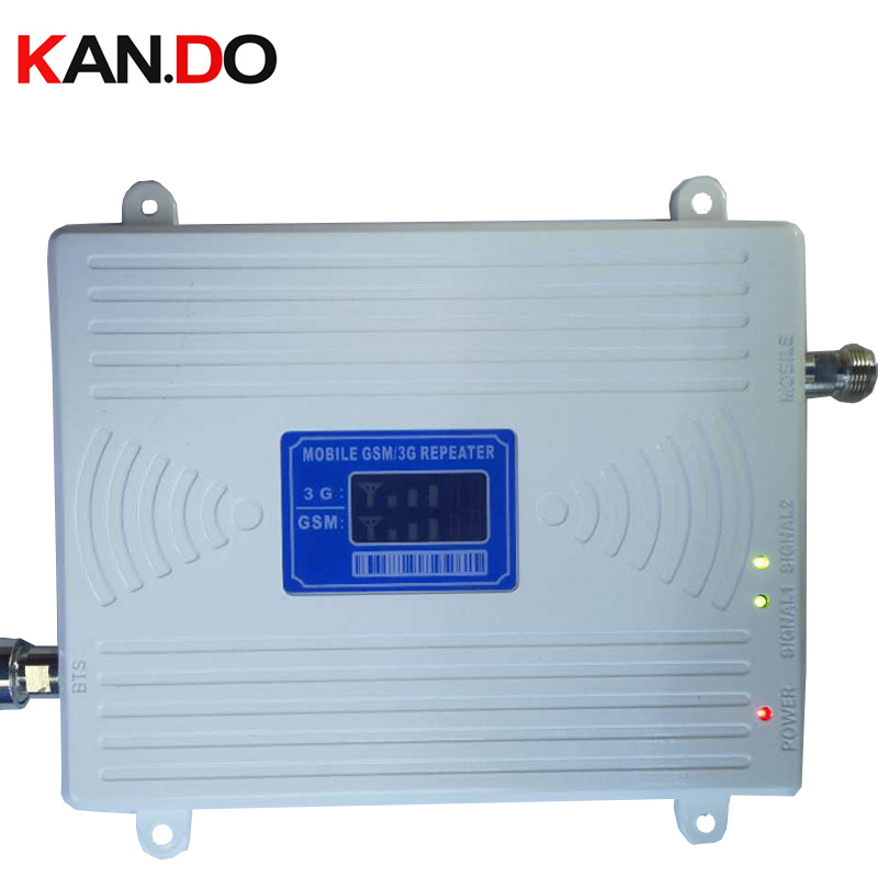 NEW 2018 65 Dbi Dual Band Booster GSM 900Mhz Booster+3G WCDMA 2100Mhz RepeateR Repeater Gsm 3G Booster Gsm Wcdma Repeater