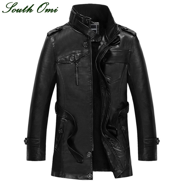 Aliexpress.com : Buy Men's Thicker Leather Jacket Men's Casual ...