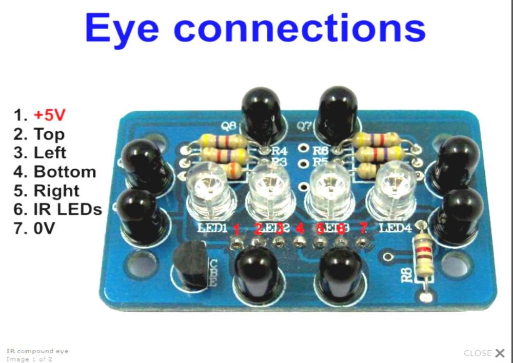 Free shipping   IR compound eye