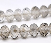 Free Shipping Wholesale AAA Top Quality Grey Crystal Glass Faceted Rondelle 5040 Loose Bead 12x8 2mm