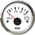 Универсальный вольтметр KUS, измеритель напряжения для гоночных автомобилей, 8-16 В, с красной и Желтой подсветкой, 52 мм