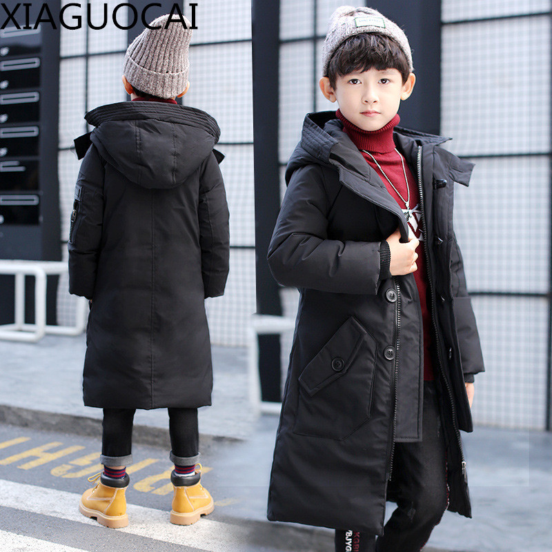 2017 New Arrivals Boys Parkas Hooded Coat Long Outerwear children's Winter jackets Warm Down cotton Thickening Clothes B29 10