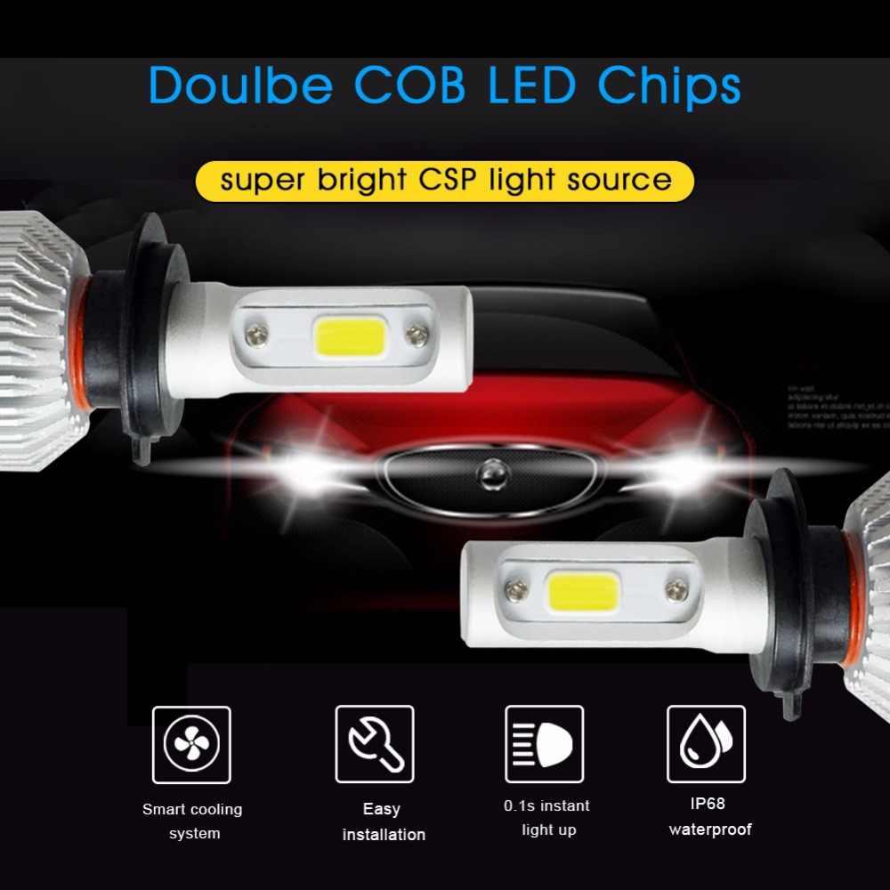 One Pair H7 Led H1 H3 H4 H11 9005 9006 COB LED Car Headlight 72W 8000LM Auto LED Lights Fog Headlamp Bulb 6500k Car Light Source