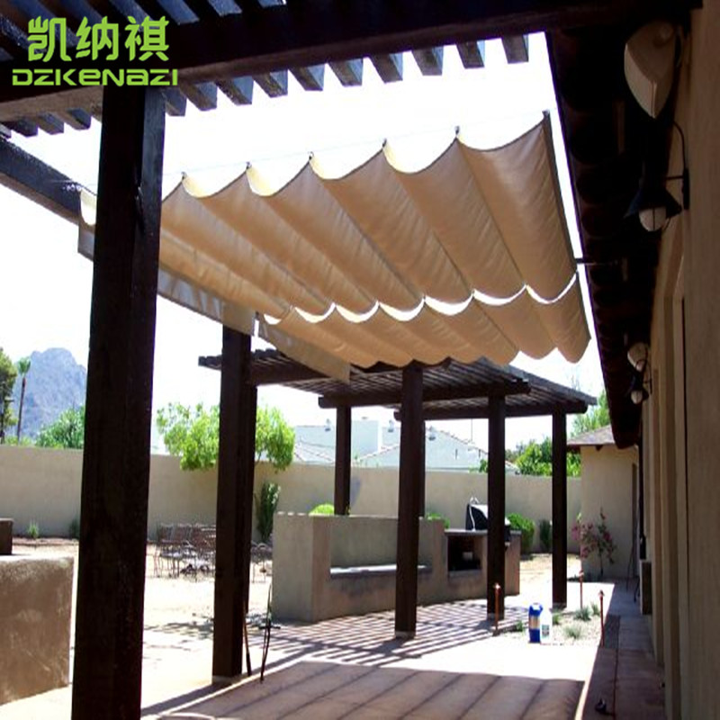 Genial Customized Size Runner Sliding Roof Retractable Wave Sun Shade Sail With  Alu Eyelet 185gsm HDPE 95% UV Protected Yard U0026 Balcony In Shade Sails U0026  Nets From ...
