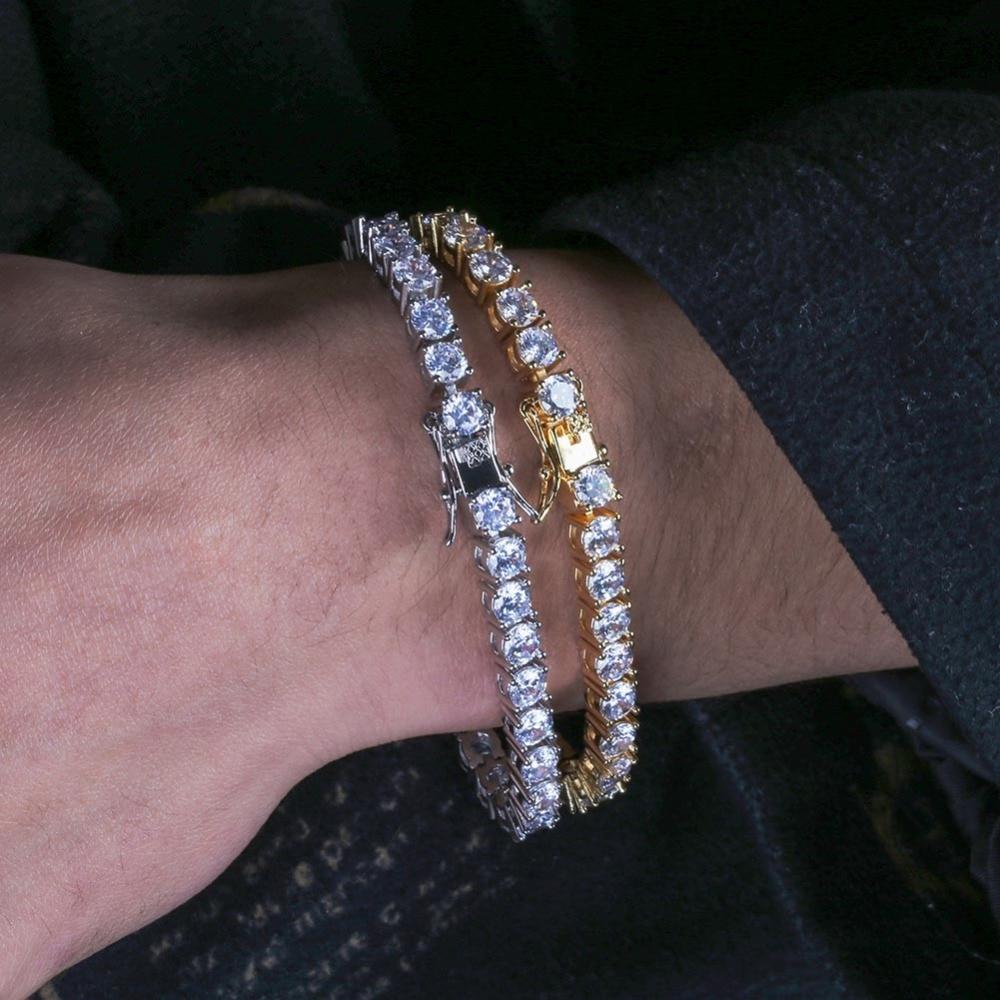 3mm 6mm Mens Women Aaa Cubic Zirconia Tennis Bracelet Hip Hop Jewelry Iced Out 1 Row Gold Cz Charms Bracelet For Gifts Tennis Bracelet Hip Hop Braceleta Bracelet Aliexpress
