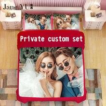 JaneYU Pattern customization 3d 4pcsbedding sets duvet cover set bedsheet Pillowcase queen king size Cotton/Polyester Bedlinen