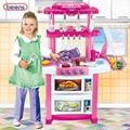 Beiens chica juguete música del juguete del bebé de gran tamaño para niños play kitchen cooking diy modelo de simulación con la caja original