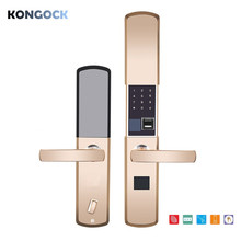 Biometric fingerprint keyless smart door lock, digital password card & E-key access & combination unlock for home and apartment стоимость