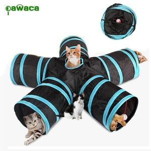 Складной туннель для кошек и собак, складной туннель для кошек с подвесным шаром 30x25 см, обновленная версия туннеля для кошек
