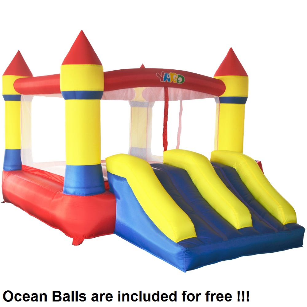 YARD Home Used Inflatable Bouncer Inflatable Bounce House Bouncy Castle for Children Sent Ocean Balls for Free yard residential inflatable bounce house combo slide bouncy with ball pool for kids amusement