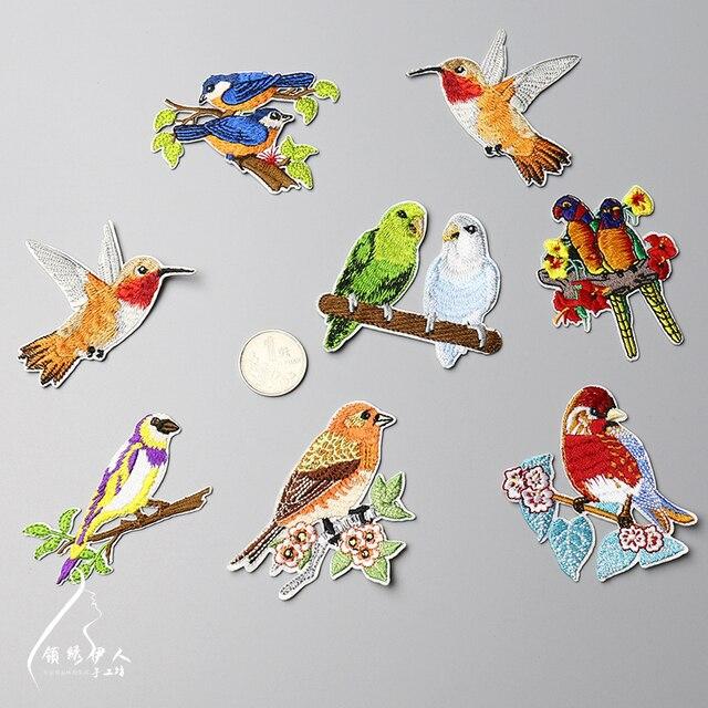 Nueva alta calidad del pájaro diseño 8 diseño parches bordados ...
