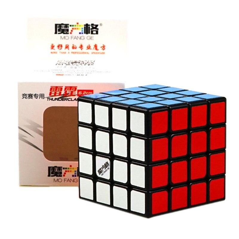 QIYI TROVÃO 4x4x4 Cérebro Teaser de Puzzle Cubos CUBO de Velocidade Cubo Mágico Profissional Brinquedos Adulto Girando Suavemente para As Crianças