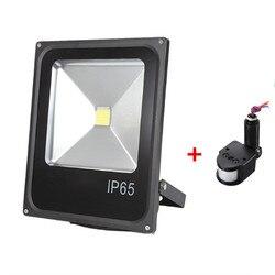 10 Вт 30 Вт 50 Вт Светодиодный прожектор светильник датчик движения водонепроницаемый AC110V 220 В Светодиодный прожектор заливающего света свети...