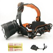 Hot Sale 2000Lm Led lighting Head Lamp T6 CREE XML LED Headlamp Headlight Camping Fishing Light +2*18650 battery+ charger