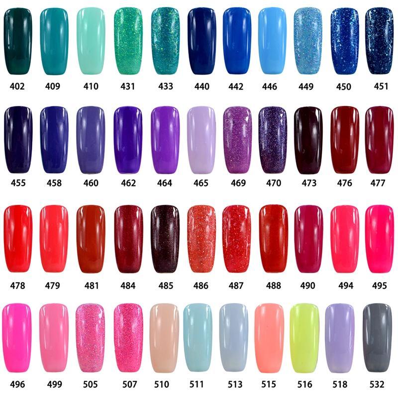 Pick 10 Colors UV Gel Nail Polish Elite99 UV Nail Polish Soak Off ...
