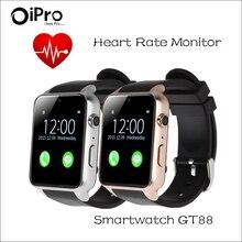 Bluetooth Smart Uhr Android GT88 Puls Gesundheit Fitness tracker Messen Tragbares Gerät für Apple Smartphone SmartWatch