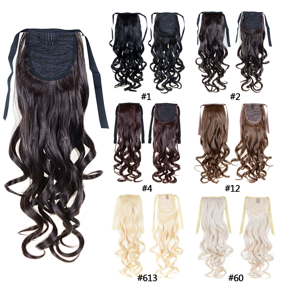Fashion Women 39 S Ponytail Hairpieces Synthetic Hair Extensions Ponytail Curly Ponytail Blonde