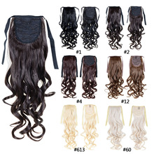 Fashion Women's Ponytail Hairpieces synthetic hair extensions ponytail curly ponytail blonde wavy ponytail free shipping