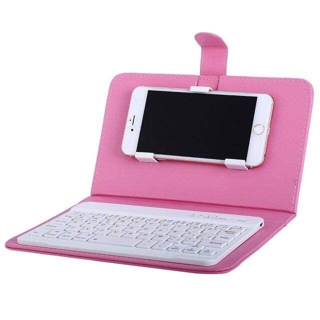 Чехол для телефона Беспроводной Bluetooth V3.0 Клавиатура чехол, кожаный чехол с подставкой универсальный для 4,5/6,5 дюйма сотовый телефон