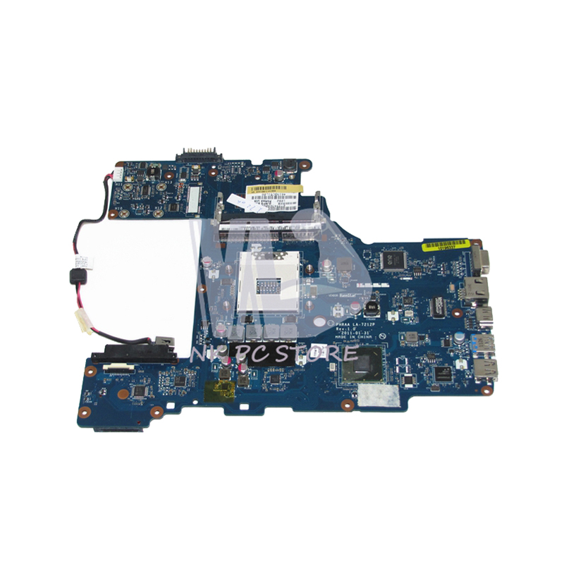 NOKOTION For Toshiba Satellite P755 Laptop Motherboard PHRAA LA-7212P K000128610 MAIN BOARD HM65 UMA DDR3 nokotion genuine h000064160 main board for toshiba satellite nb15 nb15t laptop motherboard n2810 cpu ddr3