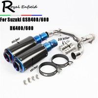 2018 New GSR 400 High Quality Motorcycle Stainless Steel carbon Middle Link Pipe Exhaust Muffler For Suzuki GSR400 600 BK400 600