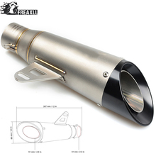 Universal Motorcycle Exhaust Muffler Pipe Modified Motorbike Muffler Scooter Exhaust Pipe Escape For KTM 125 Duke ABS 990 Super universal motorcycle exhaust muffler pipe modified motorbike muffler scooter exhaust pipe escape for ktm 125 duke abs 990 super