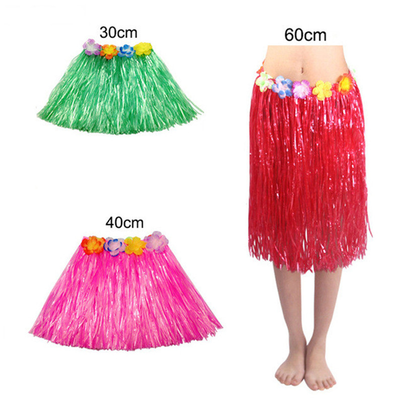 60cm 80cm Hula Dance Costume for Women 30cm 40cm Plastic Fiber Dress Set For Female Performance and Party
